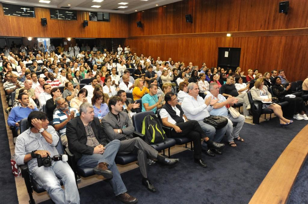 Os servidores lotaram o auditório durante o evento promovido pela AFINCA.
